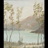 veduta del lago di calceranica by pietro camozzi