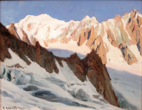 lever du soleil sur les aiguilles du mont blanc et du tacul et sur le mont blanc du col du géant by angelo abrate