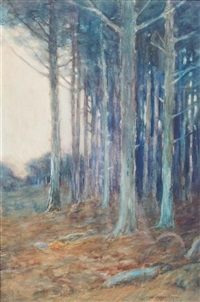 the entrance to a wood by charles warren eaton