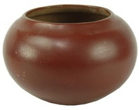 redware wide jar/bowl by maria and julian martinez