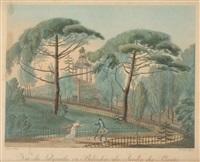 vue du labyrinthe ou belvédère du jardin des plantes (after chapuis) by antoine pierre mongin