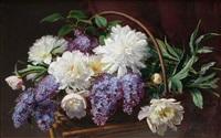 blomsterstilleben med syrener by emma mulvad