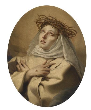 die heilige katharina von siena by giovanni battista tiepolo
