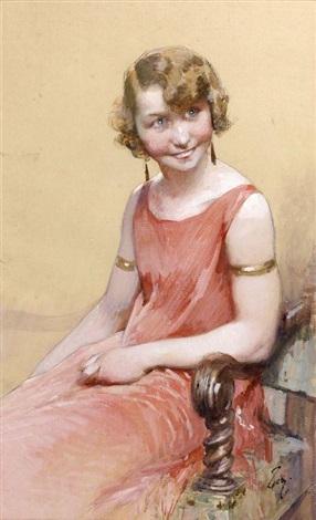 jeune fille souriante by henry jules jean geoffroy