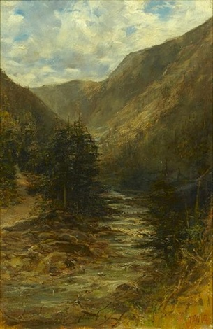 the rocky mountains british columbia canada pair by francis abel william taylor armstrong