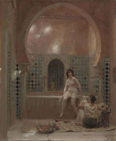 a bather in the harem by jean andré rixens