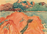 les roches rouges au trayas by louis valtat