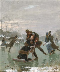 a winter romance by léon joseph voirin