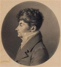 portrait de jeune homme de profil by jean jacques karpff