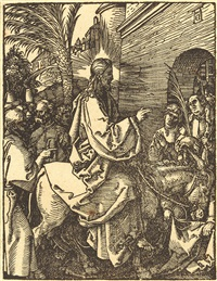 christi einzug in jerusalem by albrecht dürer