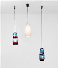 tre lampade a sospensione by massimo vignelli