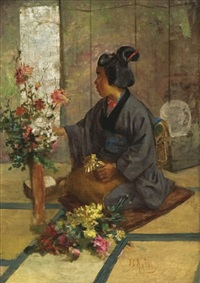 arranging flowers by charles john arter