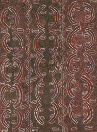 rain corroboree by japaljarri paddy sims