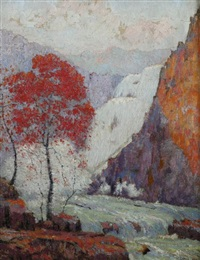 the falls in autumn by carl abel