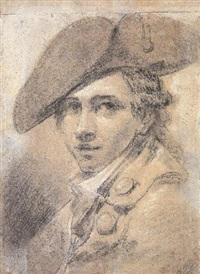 portrait d'un jeune homme portant un bicorne by joseph roques
