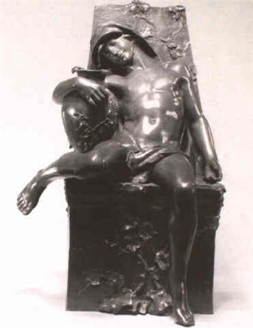 allegorical figure seated in a garden chair by alphonse emmanuel de moncel de perrin