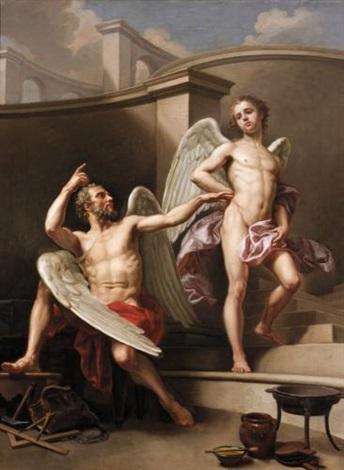 daedalus and icarus by laurent pécheux