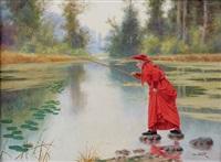 le cardinal à la pêche by alfred weber