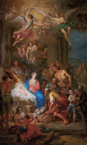 the adoration of the shepherds by franz christoph janneck