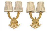 double torsade sconces (pair) by jules and andré leleu