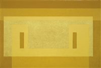 variant: pale yellow façade by josef albers