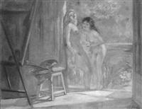 les baigneuses à l'atelier by cesare bacchi