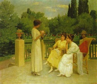 on the terrace by l. hilberth