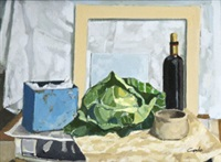 still life with cabbage by john coyle