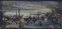 harbour scene, baghdad by khalid al-jadir