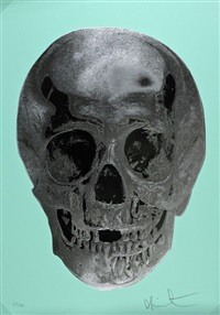 till death do us part - heavenly peppermint green silver gloss racing green by damien hirst
