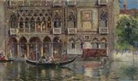 scorcio con gondola e palazzo veneziano by antonio maría de reyna manescau