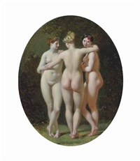 the three graces by henri regnault