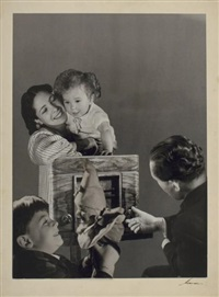photomontage, ondes en famille, paris by andré steiner