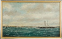 whaleback lighthouse, portsmouth harbor by william pierce stubbs