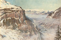 the lauterbrunnen valley by sir ernest albert waterlow