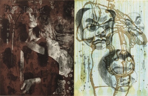 plates 2 and 4 from canfield hatfield suite 2 works by david salle