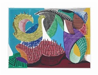four part splinge, from some new prints by david hockney