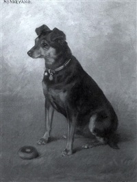 """monkeyano,"" manchester terrier by frances c. fairman"