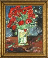 vase with tulips by josef dubiel von lerach
