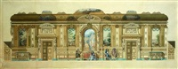 projet de la restauration du château d'altenhaus-goldenberg (prusse rhénane) by françois victor adolphe riglet