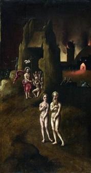 le christ aux limbes avec adam et eve by hieronymus bosch