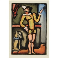 auguste (from cirque de l'etoile filante) by georges rouault