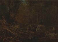 bear paw creek, andirondacks by william henry hilliard