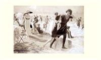 l'heure du bain sur une plage à la mode by josé simont