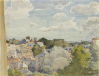 balcon sur le village by jean bouchaud
