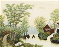 all is calm by grandma moses