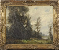 paysage à wezembeek by gilbert maurice hubin
