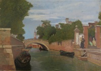 venise, ponte dei giardini by francois-louis-david bocion