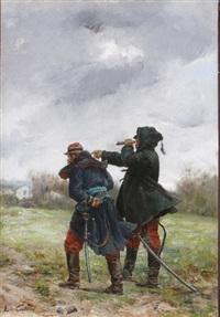 la longue vue by leon-antoine-lucien couturier