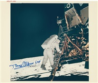 aldrin descends to the lunar surface by neil armstrong